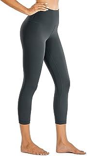 CRZ YOGA Women Matte Brushed Light Fleece Leggings Capris Leggings Gym Workout Yoga Pants -21 Inches