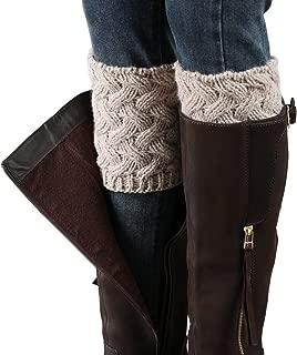 Womens Short Boots Socks Crochet Knitted Boot Cuffs Leg Warmers Socks