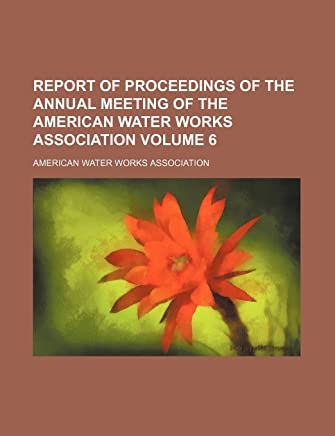 Report of Proceedings of the Annual Meeting of the American Water Works Association Volume 6