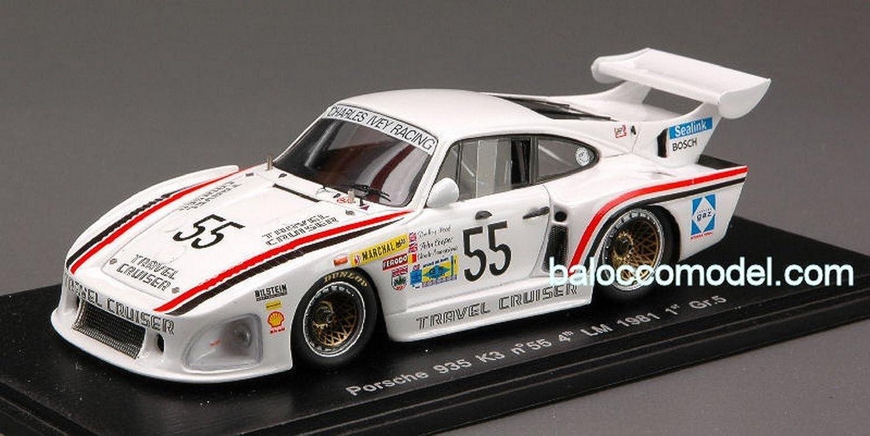 Spark Model S1929 Porsche 935 K 3 N.55 4th LM'81 1 43 MODELLINO DIE CAST Model kompatibel mit