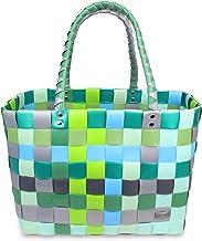 normani Einkaufstasche geflochten mit Henkeln - Tragetasche extra robust Farbe Classic/Raindrop