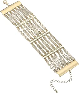 Steve Madden - Casted Layered Curb Chain Bracelet
