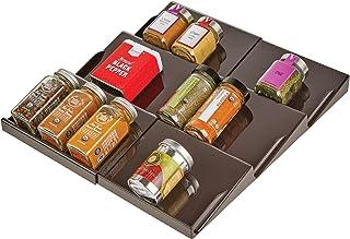 mDesign support à épices pour tiroir – range épice extensible jusqu'à 36,8 cm, de 20 cm à 36,8 cm – présentoir à épice pou...