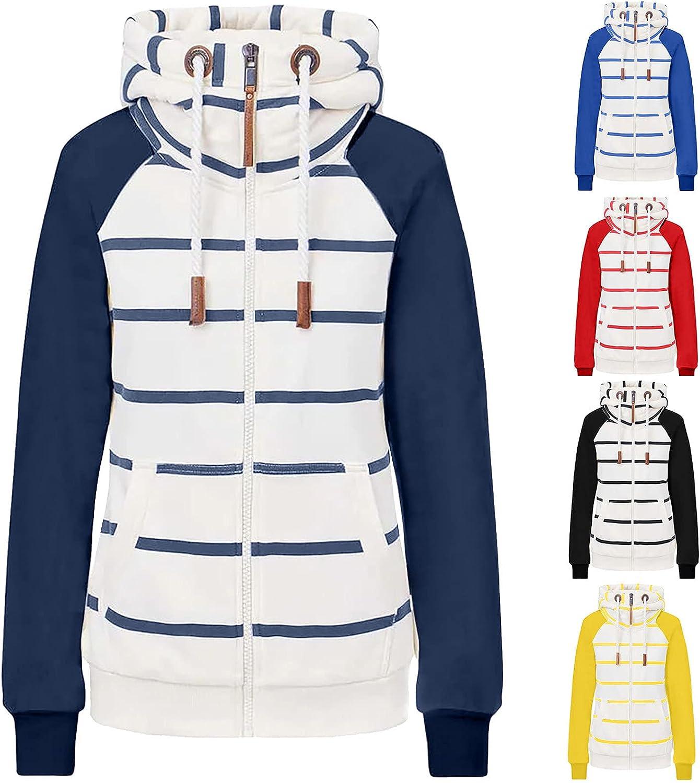 SERYU Women's Casual Zip Up Hoodie Jacket Long Sleeve Lightweight Thin Drawstring Sweatshirt Coat with Pockets