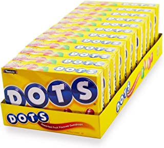 DOTS Assorted Fruit Candy, 6.5 Oz Box, Pack of 12