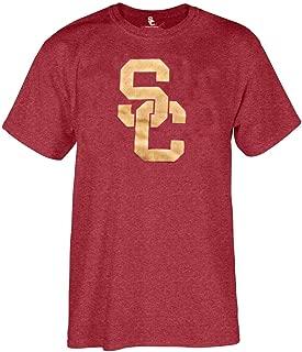 289c apparel USC Trojans Cardinal Mens Worn SC Interlock Short Sleeve T Shirt