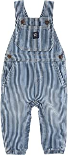 Carter's OshKosh B'Gosh Hickory Rinse Wash Soft Knit Denim Overalls for Baby and Toddlers