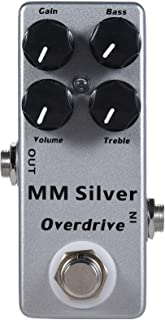 Mosky Mini MM Silver Overdrive Electric Guitar Effect Pedal