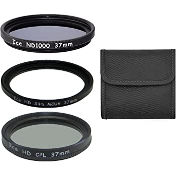 Set of 3 ICE 77mm Filter ND1000 UV /& CPL Neutral Density ND 1000 77 10 Stop Optical Glass