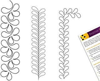 Background Dragonflies Stipple Quilting Creations Stencils for Machine and Hand Quilting Set of 2 Quilt Plastic Stencils for Stippling Dragonfly Design Patterns