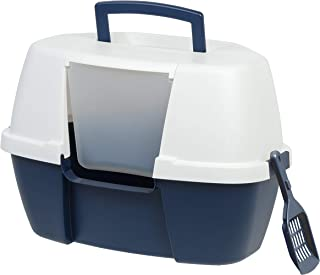 IRIS Large Hooded Corner Litter Box with Scoop
