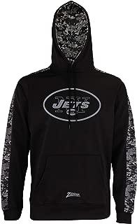Zubaz Men's NFL Black Digi Camo Pullover Hoodie