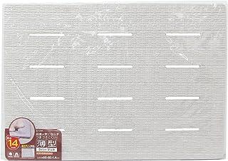 東和産業 薄型ラバーマット グレー 約85×60cm(厚さ1.4cm) 段差が気にならず、つまずきにくい
