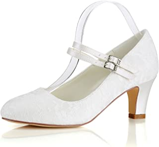 126f6a3ebff5d Amazon.com: Mary Jane - Ivory / Pumps / Shoes: Clothing, Shoes & Jewelry