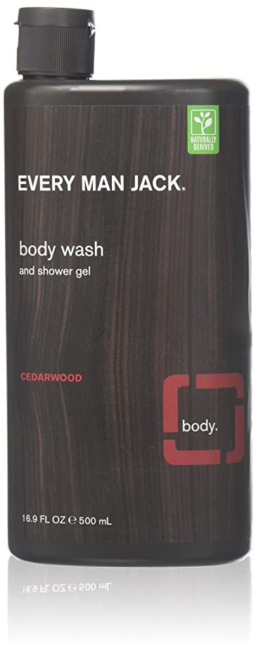 系統的チェリー場所Every Man Jack Body Wash and Shower Gel Cedarwood,16.9 oz (Pack of 6) by Every Man Jack