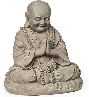 GX/&XD Bouddha Statue Bougeoir,R/étro Zen Sculpture De Bouddha,Chandelier Figurine D/écor Vintage Bouddha M/éditant pour Jardin Ext/érieur A