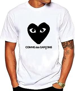 Men's CDG Black Tee shirt XL White