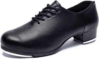 Joocare Women`s Lace-up Jazz Tap Dance Shoes (Unisex for Big Kid)