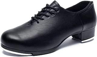 joocare Women's Lace-Up Jazz Tap Dance Shoes (Adult/Unisex for Big Kid)