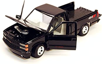 1992 Chevrolet Pickup SS 454 Black 1/24 Diecast Car Model by Motormax 73203