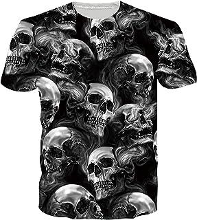 SunFocus T-Shirt Uomo Estate 3D Divertente Grafica Manica Corta Girocollo Magliette Casual Aderenti Top per Tutti i Giorni