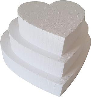 FoamArt - Kit 3 Basi polistirolo forma di Cuore per torta 15-20-25 cm Regalo nome -FoamArt-
