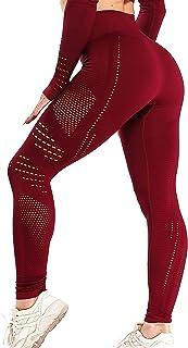 INSTINNCT Damen Sport Nahtlose Blickdicht Leggings Kompressions Yoga Fitnesshose Sporthose mit Hohe Taille für Gym Workout Jogging