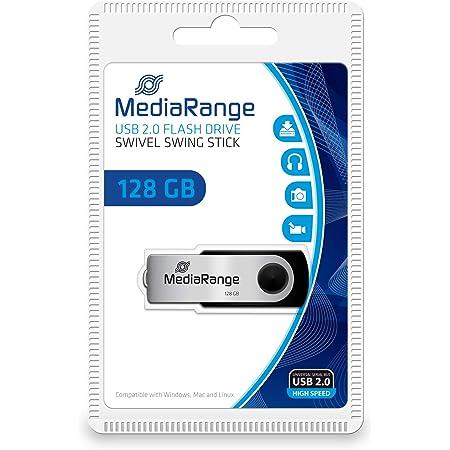 Mediarange Usb Stick 2 0 128gb Schwarz Silber Computer Zubehör