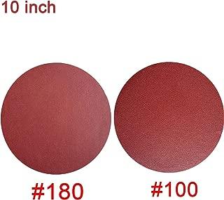 10 PCS 10-Inch NO-Hole PSA Aluminum Oxide Sanding Disc, Self Stick(5 Each of 100 180)