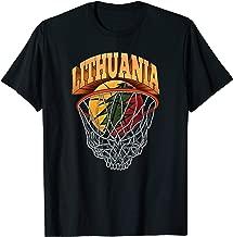 Lithuania Basketball Skeleton Net T-Shirt