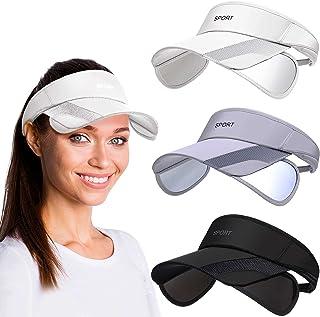 3 Pcs Sun Protection Women Sports Visor Hats, Adjustable Wide Brim Sun Hat