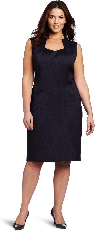 Anne Klein Women's Plus Size Herringbone Dress