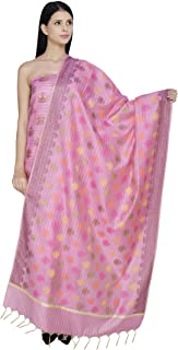 Mansha Fashions Women Art Silk Banarasi Suit with Matching Dupatta