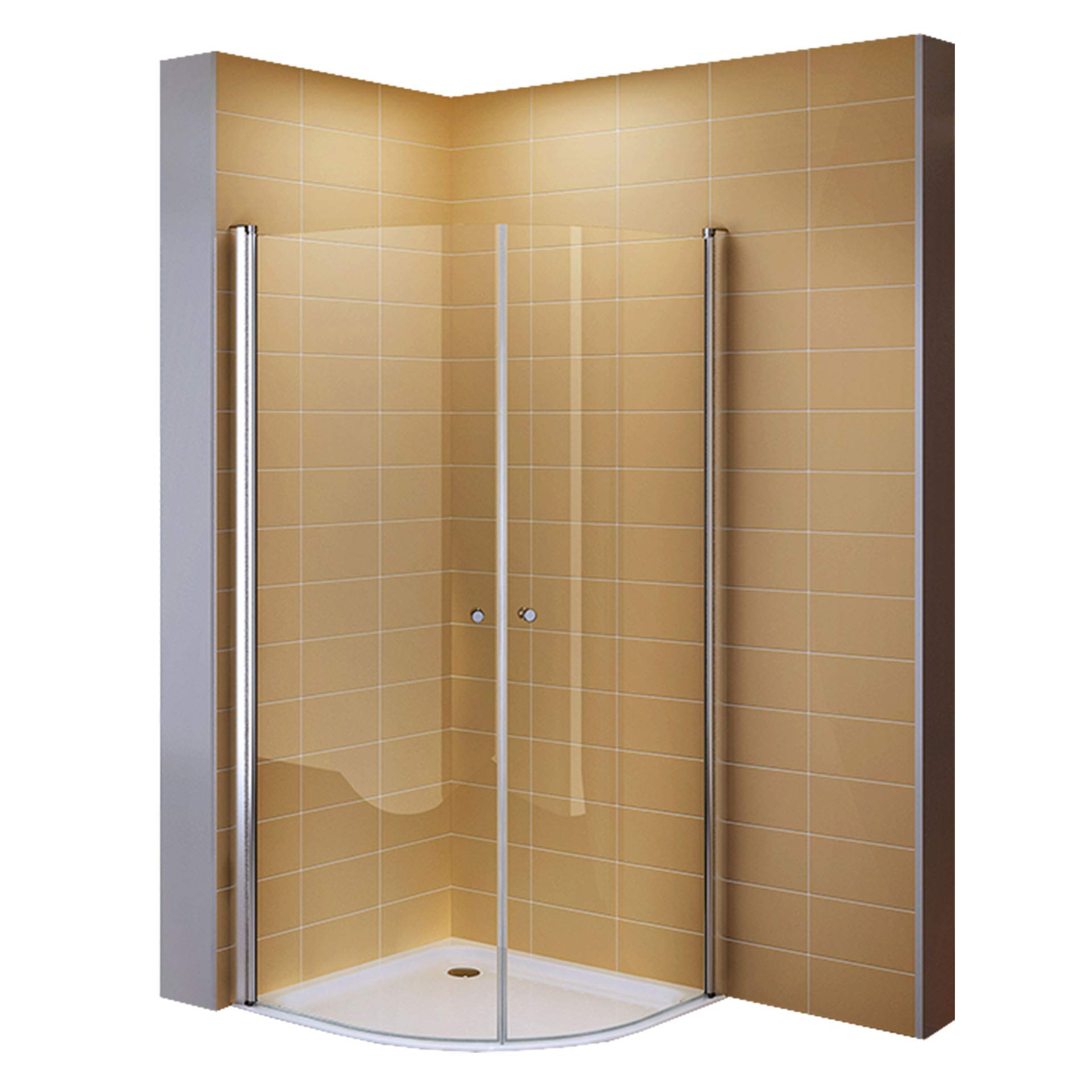 I-flair - Mampara de ducha con cristal de seguridad (90 x 90 cm ...