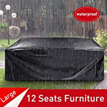 ESSORT Patio Cover, Large Outdoor Sectional Furniture Set Cover, Table Chair Sofa Covers, Waterproof Dust Proof Anti UV/Wind, Protective Cover for Garden Loveseat 124