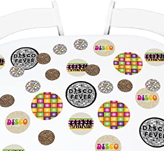 Big Dot of Happiness 70's Disco - 1970s Party Giant Circle Confetti - Disco Fever Party Decorations - Large Confetti 27 Count