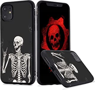 LuGeKe Skeleton Phone Case Cover for iPhone 7 Plus/iPhone 8 Plus Smile Skull Printed Phone Cover Shell Frame for iPhone Anti-Scratch and Comfortable