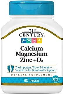 اقراص الزنك بالمغنيسيوم وكالسيوم +دي 3، 90 قرص من 21 سنشري
