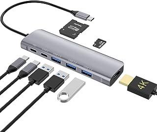USB C Hub, 8 em 1 Adaptador USB C, USB C Dongle com 4K a HDMI Porta de Carregamento PD de 100W, 3 portas USB 3.0, Leitor d...