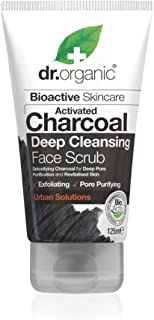 DR ORGANIC Face Scrub Activated Charcoal, 125 Milliliter
