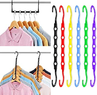 Magic Hangers Space Saving Clothes Hangers Organizer Smart Closet Space Saver Pack of 12 with Sturdy Plastic for Heavy Clo...