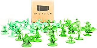 40 Fantasy Monster Unpainted Miniatures for Tabletop Roleplaying Games Ready to Play