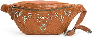 FRYE womens Concho Stud Leather Hip Pack Belt Bag