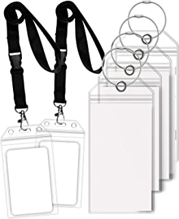 GreatShield Luggage Tags, ID Batch Holder Weatherproof Zip Seal & Steel Loops for Princess, Carnival, Costa, Holland America, and P&O Norwegian Cruise (4 Tags + 2 ID Holders)