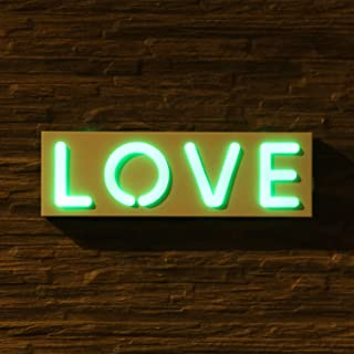 OYE HOYE LED Love Shaped Neon Sign Light, Multi Color Changing Art Sign Light for Home Decoration, Bedroom, Lounge, Office, Wedding, Christmas Party Operated by USB or AA Battery