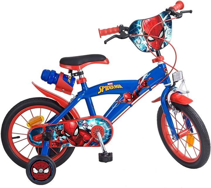 Bicicletta  spiderman  bicicletta a rotelle per bambino toims 874 VE-VE-SP-14-01-S