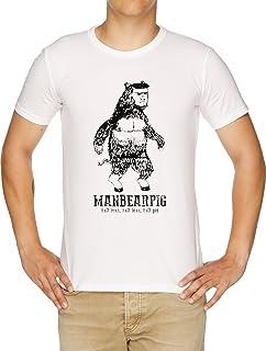 Manbearpig South Park Mythical Beast Funny Vintage T-Shirt Uomo Bianco