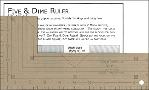 2021 Kansas 2021 Troubles Quilters Quilters Five and Dime Ruler high quality pattern online sale
