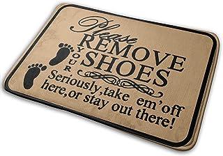 WOWUSUO Bath Mat Non Slip Super Bathroom Rug Indoor Carpet Doormat Floor Dirt Trapper Mats Shoes Scraper 24x16 Inchhe Sein...