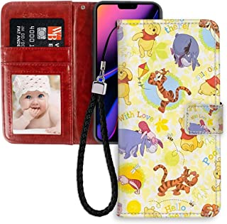 DISNEY COLLECTION Wallet Case with Strap Winnie Pooh Wallpaper Phone Wallet Case Fit Apple iPhone 11 Pro Max [6.5in] Good Looking